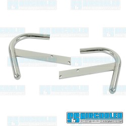 Nerf Bars, Front or Rear, Steel, Chrome