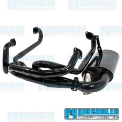Sideflow Exhaust System, 1-5/8in. Header w/Muffler, Black w/Chrome Tip