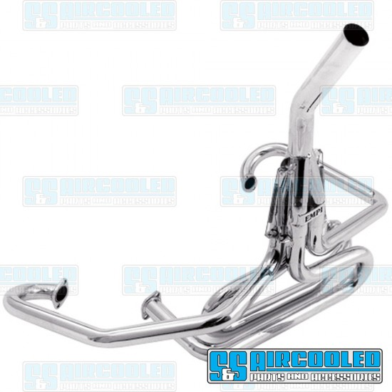 EMPI Off-Road Competition Exhaust System, 1-1/2in. Header w/Straight Stinger, Chrome