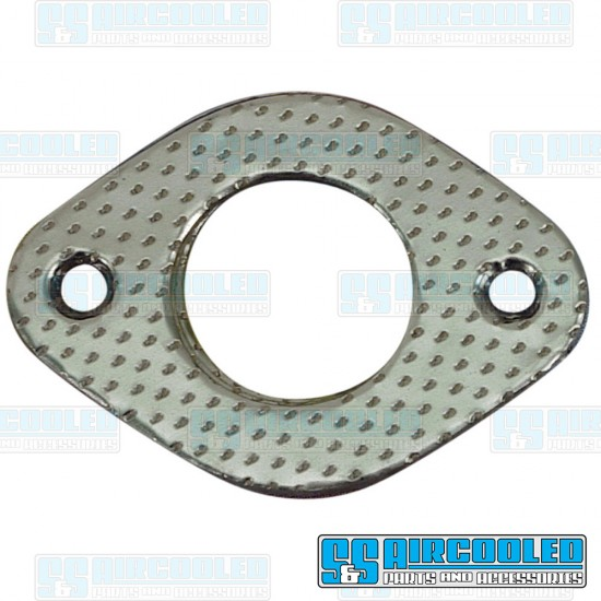 EMPI Exhaust Gaskets, 1-1/2in ID, Heavy Duty, Metal/Paper