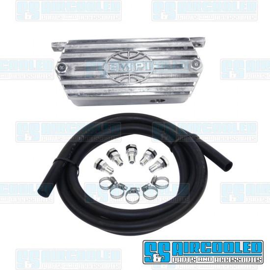 EMPI Oil Breather Kit, Cast Aluminum