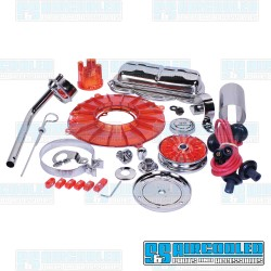 Engine Dress-Up Kit, Deluxe, Red/Chrome