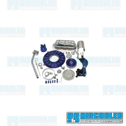 Engine Dress-Up Kit, Deluxe, Blue/Chrome