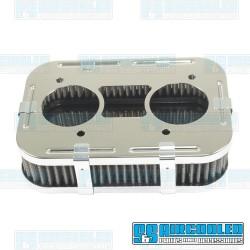 Air Filter Assembly, IDF/DRLA/HPMX/D, Rectangle, Gauze Element, Chrome