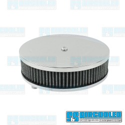 Air Filter Assembly, Stock/ICT/EPC, Round, Gauze, Chrome