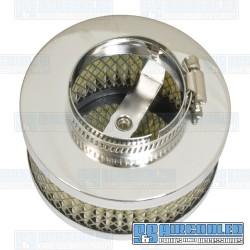 Air Filter Assembly, Kadron/Brosol/Solex/40K, Round, Paper Element, Chrome