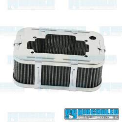 Air Filter Assembly, DGV/DGAV/DGEV, Rectangle, Gauze Element, Chrome