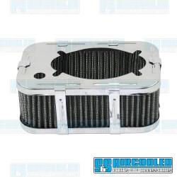 Air Filter Assembly, DFV/DFAV/DFEV, Rectangle, Gauze Element, Chrome