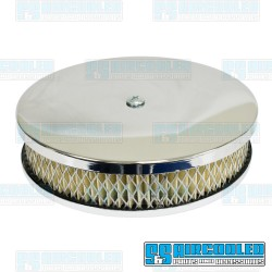Air Filter Assembly, Stock/ICT/EPC, Round, Low Profile, Paper, Chrome