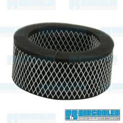 Air Filter Element, 5-1/2 x 2in, Round, Foam