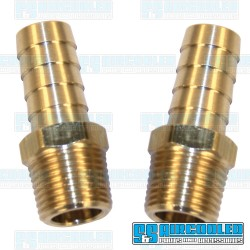 Oil Hose Fitting, 1/2 NPT Male to 1/2 Hose Barb, Brass