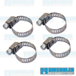 Hose Clamps, 3/8in - 1/2in Hose