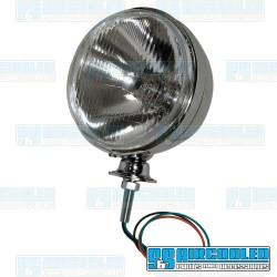 Headlight Assembly, H4, 12 Volt 55/60W, 7in Diameter, Chrome
