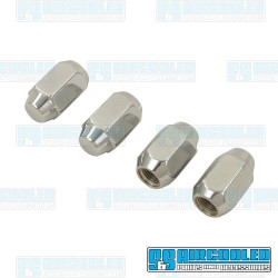 Lug Nuts, 1/2-20, 60 deg. Taper, Acorn Style, Chrome