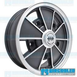 Wheel, BRM, 15x5, 5x205 Pattern, Gloss Black w/Polished Spokes & Lip