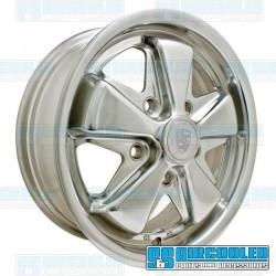 Wheel, Porsche 911 Alloy, 15x5.5, 5x130 Pattern, Polished
