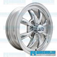 Wheel, GT-8, 8 Spoke, 15x5.5, 4x130 Pattern, Polished