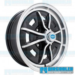 Wheel, Sprintstar, 15x5, 4x130 Pattern, Gloss Black w/Polished Spokes and Lip
