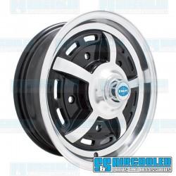 Wheel, Sprintstar, 15x5, 5x205 Pattern, Gloss Black w/Polished Spokes & Lip