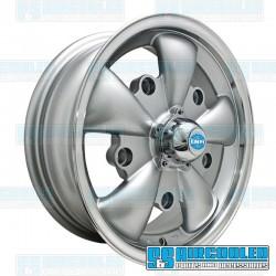 Wheel, GT-5, 5 Spoke, 15x5.5, 5x205 Pattern, Silver w/Polished Lip
