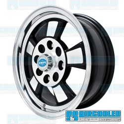 Wheel, Riviera, 15x5.5, 4x130 Pattern, Gloss Black w/Polished Spokes & Lip