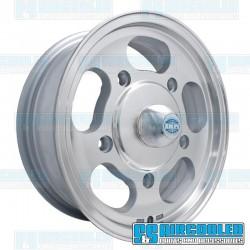 Wheel, Dish, 15x5.5, 5x205 Pattern, Machine Finish