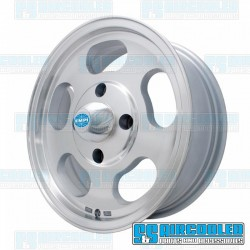 Wheel, Dish, 15x5.5, 4x130 Pattern, Machine Finish