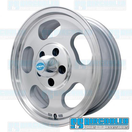 EMPI Wheel, Dish, 15x5.5, 5x112 Pattern, Machine Finish