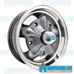 Wheel, Torque Star, 15x5, 5x205 Pattern, Anthracite w/Polished Lip