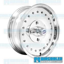 Wheel, Smoothie, 15x5.5, 4x130 Pattern, Polished w/o Holes