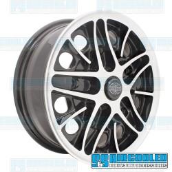 Wheel, Cosmo, 15x5.5, 5x205 Pattern, Gloss Black w/Polished Spokes & Lip