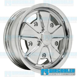 Wheel, Porsche 911 Alloy, 15x4.5, 5x205 Pattern, Chrome