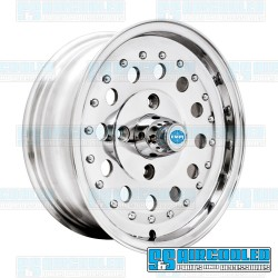 Wheel, Revolver, 15x5.5, 4x130 Pattern, Polished w/Holes