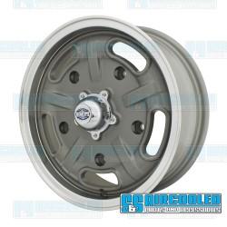 Wheel, Corsa, 15x5.5, 5x205 Pattern, Gun Metal Grey w/Polished Lip
