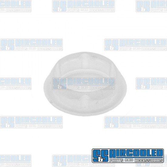 Door Hinge Screw Cover, Upper or Lower, Left or Right, White