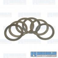 Flywheel Shim Kit, .24-.38mm, 12-1600cc, Flywheel End Play