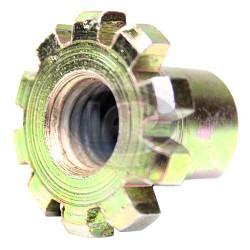 Nut, Brake Shoe Adjuster, Front or Rear, Left or Right
