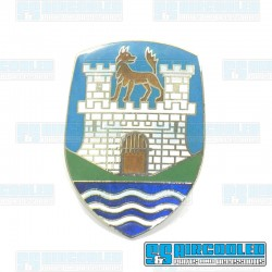 Hood Badge, Wolfsburg Crest, 7 Color, German
