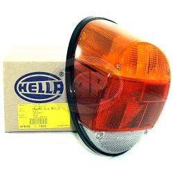 Tail Light Assembly, Amber/Red/Clear, Euro Style, Left or Right