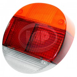 Lens, Tail Light, Amber/Red/White, Euro Style, Left