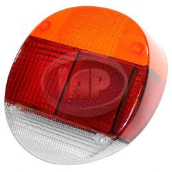 Lens, Tail Light, Amber/Red/White, Euro Style, Right