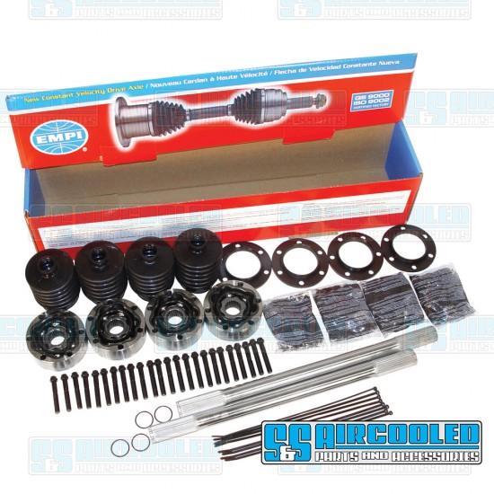 EMPI Axle Kit, 108mm 930 CV, 22in., 28 Spline, Chromoly