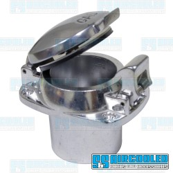 Fuel Filler with Flip Top Gas Cap, Polished