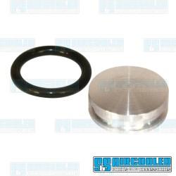 Camshaft Plug, Billet Aluminum w/O-ring, Grooved Case