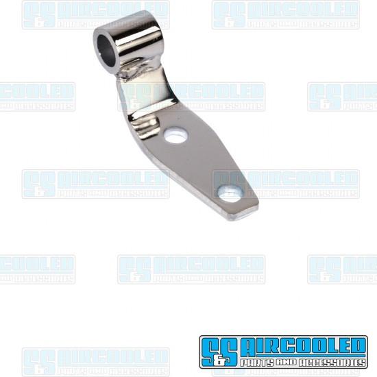 Bowden Tube Bracket, Type 2, Bolt-On, Chrome