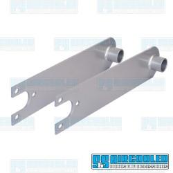 Spring Plates, 1-1/4in Collar, 21-3/4in Torsion Bar, Heavy Duty, Swing Axle, Silver