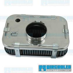 Air Filter Assembly, Stock/ICT/EPC, Rectangle, Gauze Element, Chrome