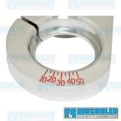 Distributor Clamp, Billet Aluminum, w/Ignition Timing Marks, Polished