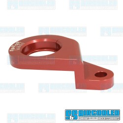 Distributor Clamp, Billet Aluminum, w/Ignition Timing Marks, Red
