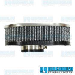 Air Filter Assembly, Stock/ICT/EPC, Oval, Gauze, Chrome